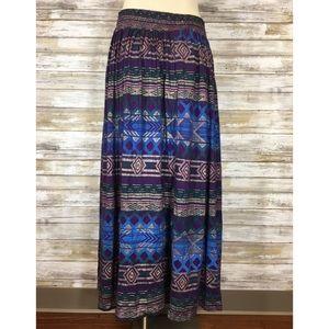 Vintage Skirts - Vintage 80's 90's Purple Southwestern Print Skirt